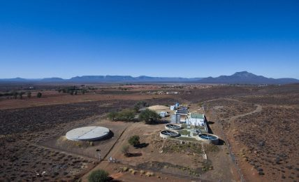 The Calvinia Water Treatment Centre tests and treats the town's drinking water, now coming solely from borehole water. Photo © Oxpeckers/Johnny Miller