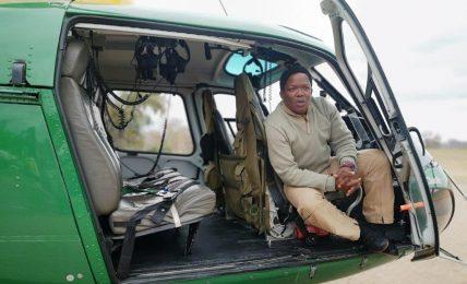 Captain David Simelane, SANParks First Black Pilot.