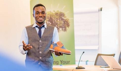 From banker to successful shoe maker
